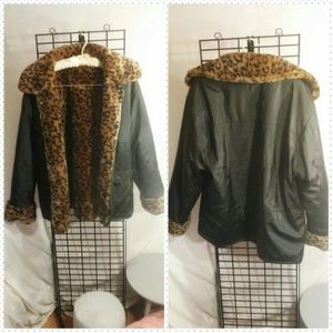 Jackets & Blazers - Reversible Animal Print Coat